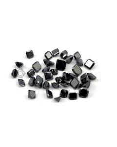 4.80 x 4.50 mm to 6.90 x 6 mm - Black Square Shaped Diamond Cut Stones Diamond  - 28.89 carats (FDCS1015)