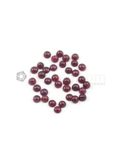 4.40 mm - Dark Red Round Ruby Cabochons - 35 pieces - 17.70 carats (RuCab1065)