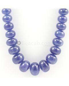 10 to 20 mm - Medium Violet Tanzanite Smooth Beads - 1050.00 carats (TzSB1002)