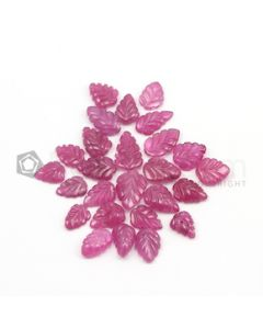 9 x 7.50 mm to 13 x 9 mm - Medium Red Ruby Carvings - 26 pieces - 53.54 carats (RCar1003)