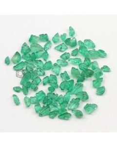 5 x 3 mm to 7 x 5 mm - Medium Green Emerald Carving - 80 pieces - 29.56 carats (EmCar1047)