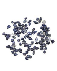 5 x 3.50 mm to 8.90 x 5.20 mm - Dark Blue Sapphire Leaf Shape - 94 Pieces - 43.66 carats (SCar1038)