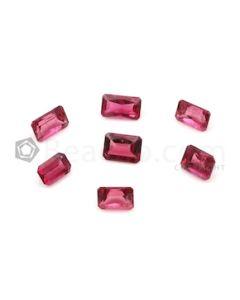 6.20 x 4.20 mm to 7.30 x 4.40 mm - Medium Pink Tourmaline Emerald Cut - 7 Pieces - 5.98 carats (ToCS1113)