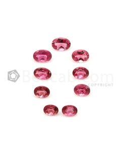 5.40 x 4.20 mm to 6.80 x 4.80 mm - Medium Pink Tourmaline Oval Cut - 9 Pieces - 5.33 carats (ToCS1138)