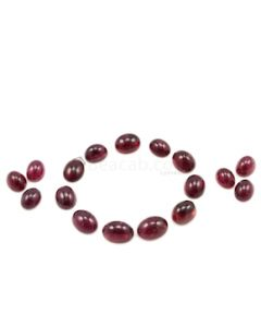 10 x 8 mm to 13 x 10 mm - Dark Pink Tourmaline Oval Cabochons - 17 Pieces - 68.82 carats (ToCab1020)