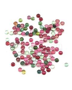 5 mm - Medium Tones Tourmaline Round Cabochons - 120 Pieces - 86.75 carats (ToCab1093)
