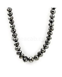 6.20 to 9.50 mm - Black Diamond Beads Faceted - 1 Line - 212.00 carats (BDia1030)