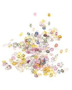 4 x 3 mm - Light Tones Multi-Sapphire Oval Cut Stones - 201 Pieces - 45.92 carats (MSCS1023)