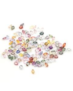 5 x 4 mm - Medium Tones Multi-Sapphire Oval Cut Stones - 136 Pieces - 62.19 carats (MSCS1027)