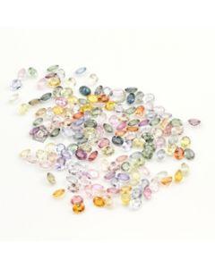 5 x 4 mm - Medium Tones Multi-Sapphire Oval Cut Stones - 154 Pieces - 70.04 carats (MSCS1028)