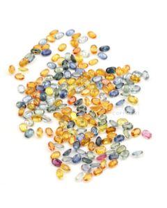 6 x 4 mm - Dark Tones Multi-Sapphire Oval Cut Stones - 186 Pieces - 108.98 carats (MSCS1029)