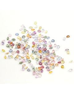 5 x 4 mm - Light Tones Multi-Sapphire Oval Cut Stones - 178 Pieces - 83.35 carats (MSCS1030)