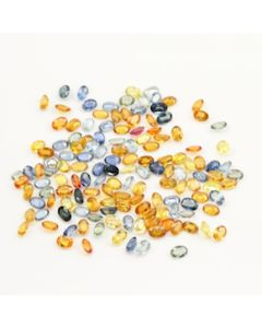 6 x 4 mm - Dark Tones Multi-Sapphire Oval Cut Stones - 140 Pieces - 83.43 carats (MSCS1031)