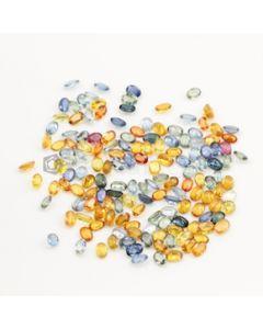 6 x 4 mm - Dark Tones Multi-Sapphire Oval Cut Stones - 152 Pieces - 87.96 carats (MSCS1032)