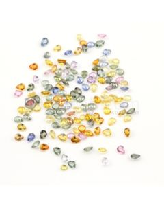 5 x 4 mm - Medium Tones Multi-Sapphire Pear Cut Stones - 134 Pieces - 52.92 carats (MSCS1039)