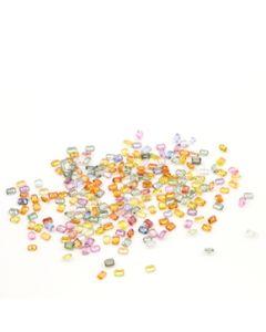 4 x 3 mm - Medium Tones Multi-Sapphire Emerald Cut Stones - 222 Pieces - 58.64 carats (MSCS1044)