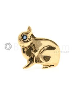18kt Yellow Gold Bunny Pin, 1 Pc. - 5.50 grams - EST1083