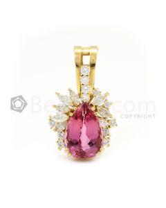 Yellow Gold, Pink Tourmaline and Diamond Enhancer - 11.21 grams - EST1130
