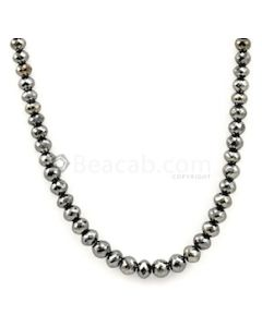 4.70 to 6.50 mm - Black Diamond Faceted Beads - 1 Line - 104.30 carats - BDIA1035