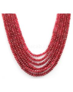 3.00 to 5.50 mm - Medium Purple-Red Spinel Faceted Beads - 7 Lines - 624.00 carats - SPNFB1008