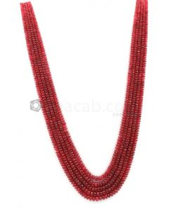 2.00 to 5.00 mm - Medium Purple-Red Spinel Smooth Beads - 5 Lines - 286.00 carats - SPNSB1001