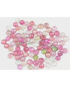 5.00 mm - Medium Tones Multi-Sapphire Round Rose Cut - 87 Pieces - 59.50 carats - MSRC1053