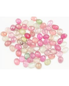 4.70 x 3.50 to 6.00 x 4.00 mm - Medium Tones Multi-Sapphire Oval Rose Cuts - 74 Pieces - 42.50 carats - MSRC1064