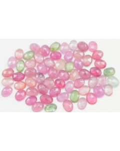 6.20 x 4.80 to 7.20 x 5.00 mm - Medium Tones Multi-Sapphire Oval Rose Cuts - 64 Pieces - 59.50 carats - MSRC1065