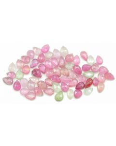5.20 x 3.80 mm - Medium Tones Multi-Sapphire Pear Rose Cuts - 65 Pieces - 29.00 carats - MSRC1070