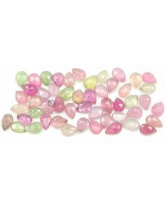6.00 x 4.00 to 6.70 x 4.40 mm - Medium Tones Multi-Sapphire Pear Rose Cuts - 55 Pieces - 31.00 carats - MSRC1071