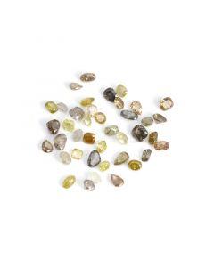 40 Pcs - Natural Fancy Medium Tones Mix Diamond Cut Stone Lot - 31.46 cts. - 4.3 x 4.4 mm to 7.3 x 5 mm (NFD1003)