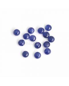 14 Pcs - Medium Blue Sapphire Cabochons - 28.81 ct. - 6.9 to 7.1 mm (SACAB1068)