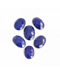 6 Pcs - Blue Lapis Lazuli Rose Cut - 148.75 ct. - 24 x 21 x 6 mm to 28 x 20 x 6.5 mm (LAPRC1016)