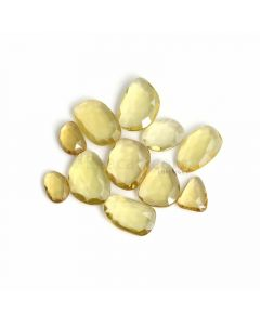 11 Pcs - Yellow Citrine Rose Cut - 133.97 ct. - 15 x 11 x 5 mm to 25 x 18 x 5 mm (CITRC1011)