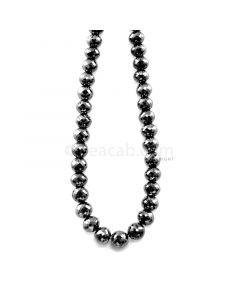 1 Line - 204.00 ct. - Black Diamond Faceted Beads - 6.90 to 8.10 mm - 15 in. (AABDIA1075)
