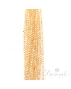 18 Lines of Light Yellow Citrine Plain Beads - 5 to 6 mm - 15 in. (CITSB1009)