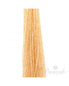 35 Lines of Light Yellow Citrine Plain Beads - 4 mm - 15 in. (CITSB1011)