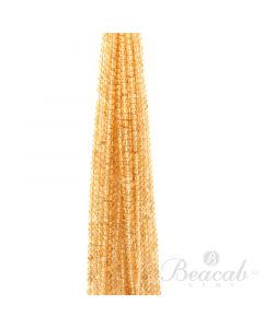 20 Lines of Medium Yellow Citrine Plain Beads - 4 to 5 mm - 15 in. (CITSB1015)