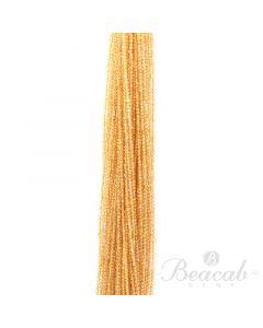 49 Lines of Medium Yellow Citrine Plain Beads - 2.5 mm - 15 in. (CITSB1016)