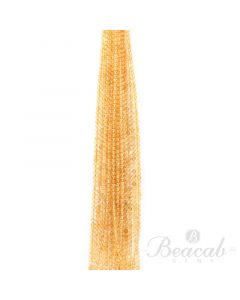 15 Lines of Medium Yellow Citrine Plain Beads - 4.50 mm - 15 in. (CITSB1027)