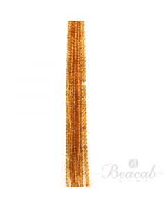 10 Lines of Dark Yellow Citrine Plain Beads - 3.5 to 5 mm - 15 in. (CITSB1040)