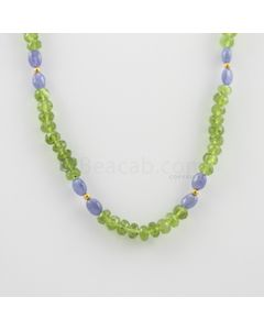 6.50 to 7 mm - 1 Line - Peridot Faceted Beads Necklace - 149.00 carats (CSNKL1120)