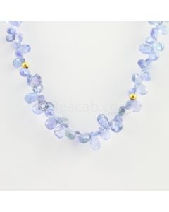 3.50 to 7.20 mm - 1 Line - Tanzanite Drops Necklace  - 87.00 carats (CSNKL1121)