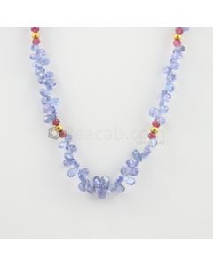 3.50 to 7 mm - 1 Line - Tanzanite Drops Necklace  - 89.27 carats (CSNKL1124)