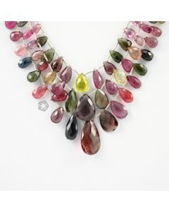 6.50 to 25 mm - 3 Lines - Tourmaline Drops - 204.00 carats (ToDr1048)